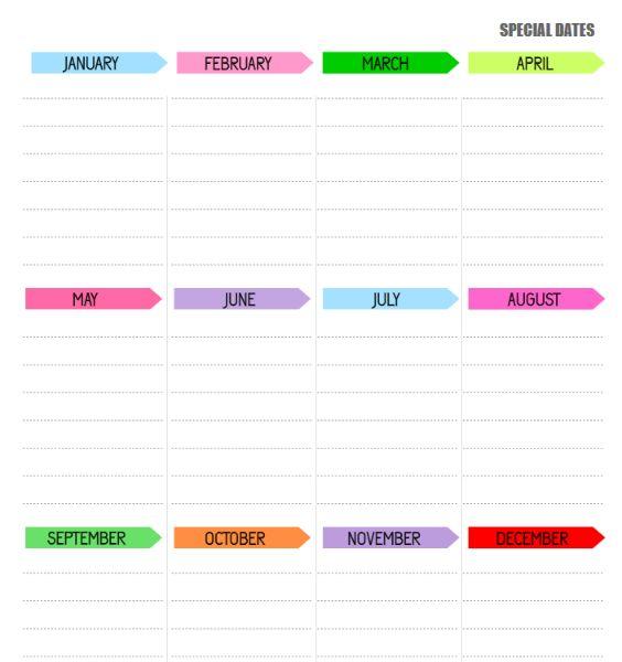 printable planner - curlytea.com