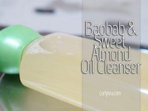 sweet almond oil cleanser