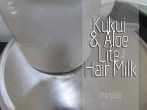 kukui and aloe hair milk - curlytea.com