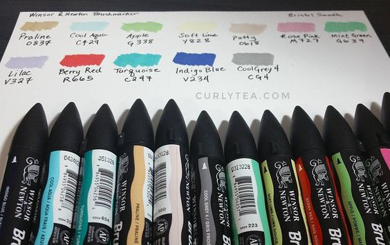 curlytea.com - winsor and newton brushmarkers