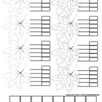 leaf coloring page version 1 - curlytea.com