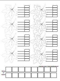 leaf coloring page version 1 - curlytea.com