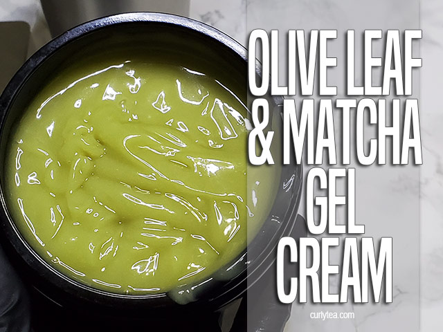 Olive Leaf and Matcha Cream Gel